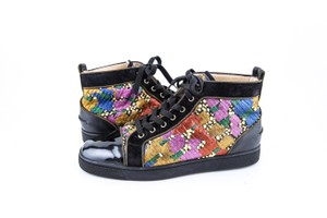 Christian Louboutin * Multi Suede/Patent Patch Design High Top Sneakers Shoes