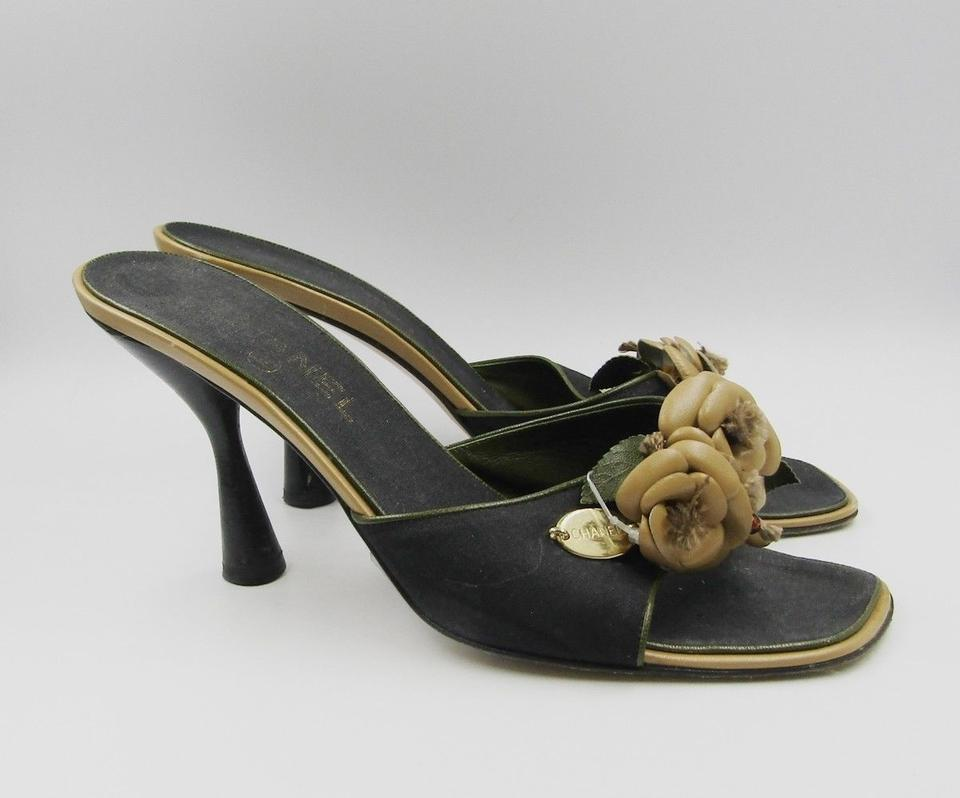 235c44da72b Chanel Camellia Flower Mule Slip On black Sandals Image 10. 1234567891011