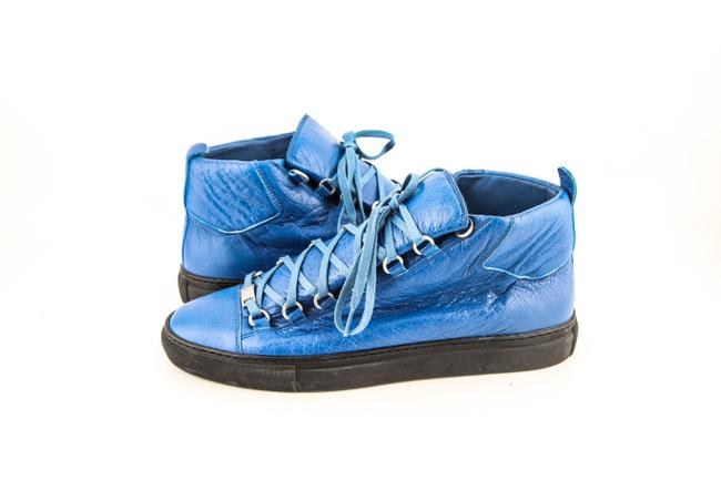 Balenciaga * Blue Arena High Top Sneakers Shoes Balenciaga * Blue Arena High Top Sneakers Shoes Image 1