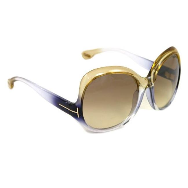 Tom Ford Blue Gold Gradient Tf80 Marcella Sunglasses Tom Ford Blue Gold Gradient Tf80 Marcella Sunglasses Image 1