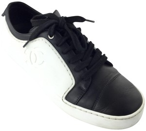Chanel Sneakers & Leather White/Black Athletic
