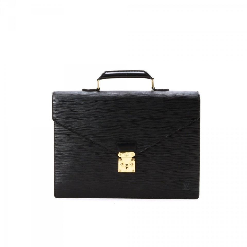 1209d31a0160 Louis Vuitton Lv Vintage Epi Serviette Conseiller Briefcase Black Leather  Laptop Bag