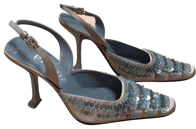 Item - Perla / Light Bluish Grey Raso Sera Formal Shoes Size EU 36.5 (Approx. US 6.5) Regular (M, B)
