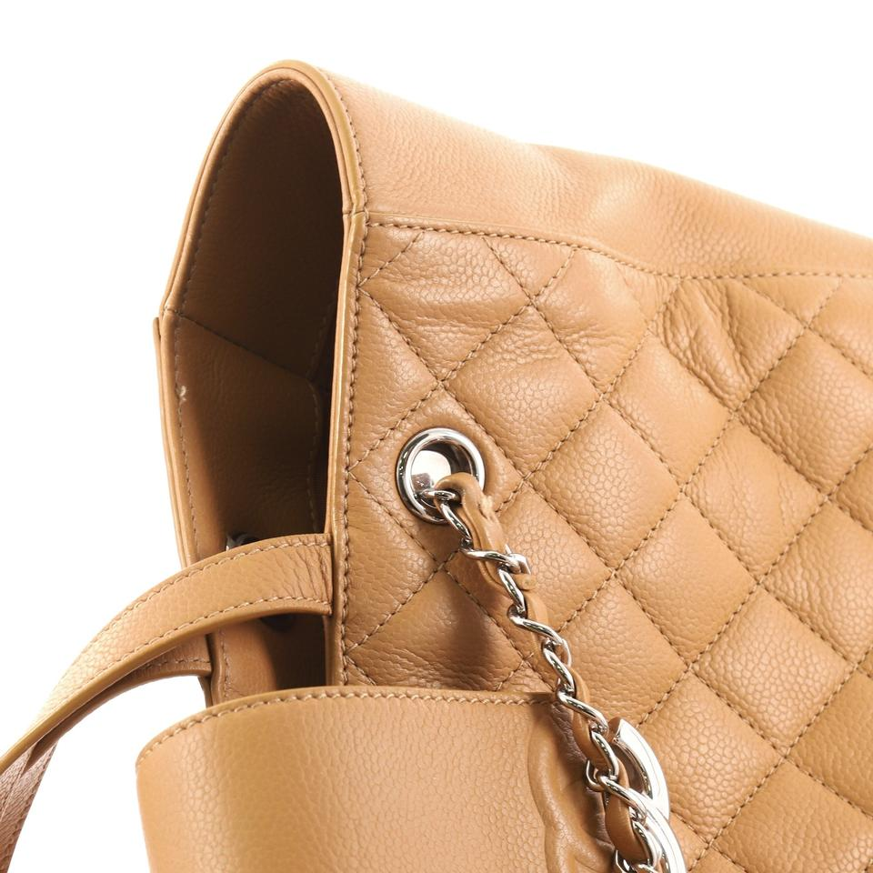 6e431b9a60d7 Chanel Shopping Tote Cc Box Quilted Small Camel Caviar Leather ...
