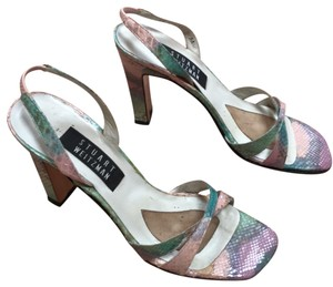 Stuart Weitzman shades of pink & turquoise Sandals