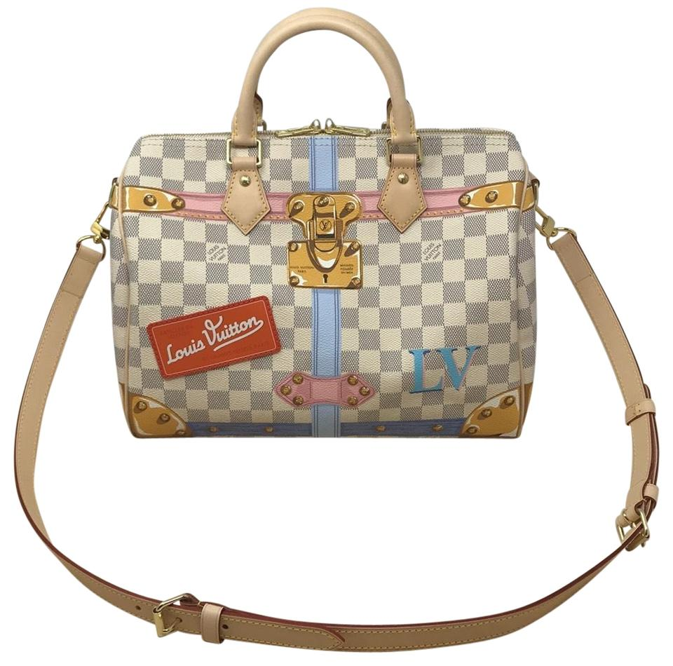 8e7321013947 Louis Vuitton Trunk Limited Edition Speedy Trunk Speedy 30 Trunk Trunk 2018  Satchel in Damier Azur ...