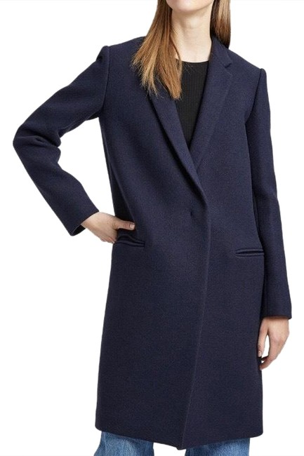 Item - Navy Wool Twill Essential Coat Size 4 (S)