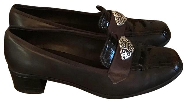 Item - Brown with Various Multi Colors Flats Size US 6.5 Regular (M, B)