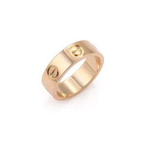 Cartier Love 18k Rose Gold 5.5mm Band Ring Size 49 w/Cert