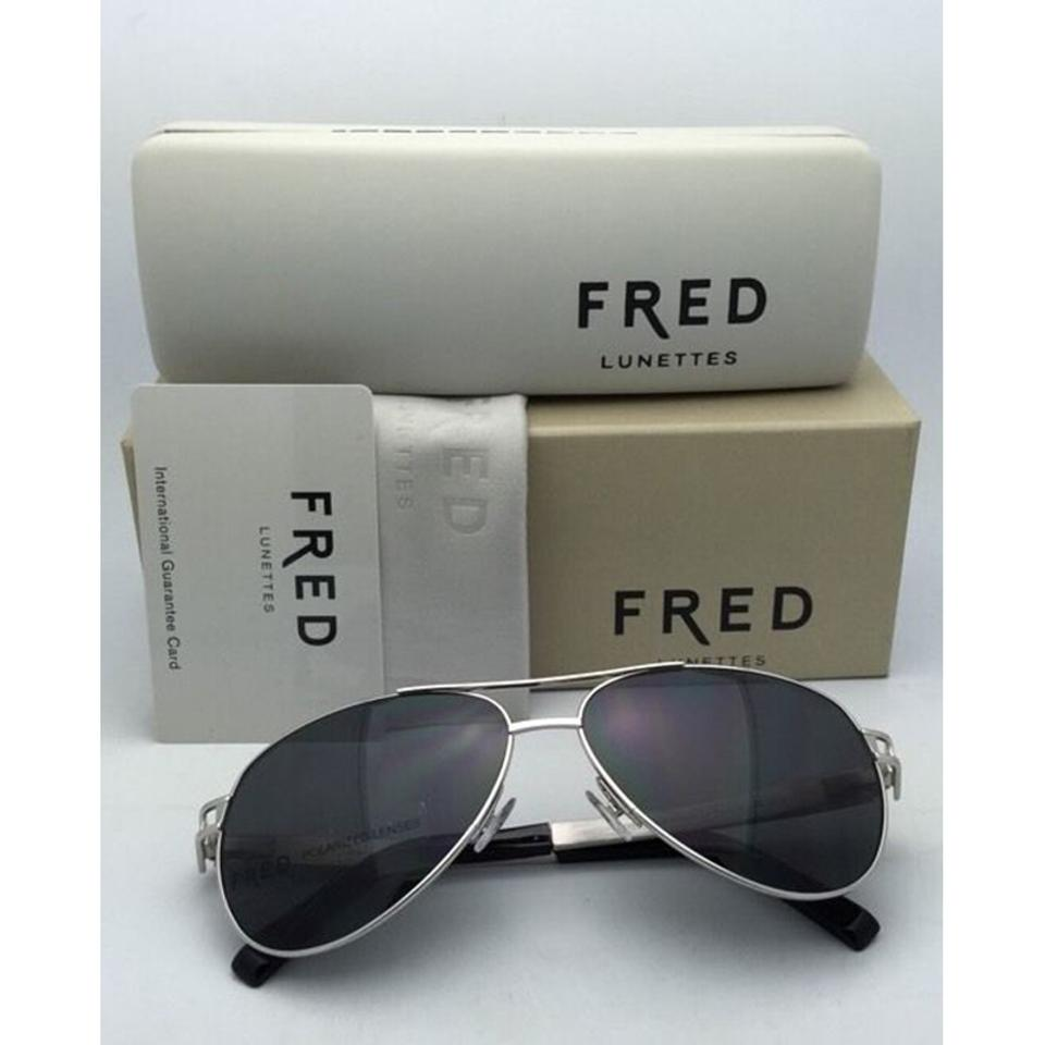 100% qualité garantie brillance des couleurs fabrication habile FRED Hawai C6 918 Palladium Silver Polarized Lunettes 8427 Sunglasses 81%  off retail