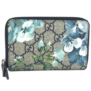 Gucci NEW GUCCI 410220 GG Supreme Bloom Zip Card Case Wallet
