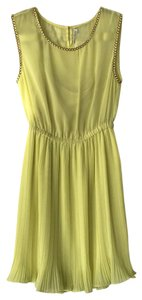 Willow & Clay short dress Chartreuse on Tradesy