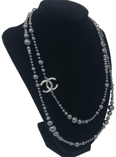 Preload https://item2.tradesy.com/images/chanel-grey-crystal-pearl-necklace-23178171-0-3.jpg?width=440&height=440