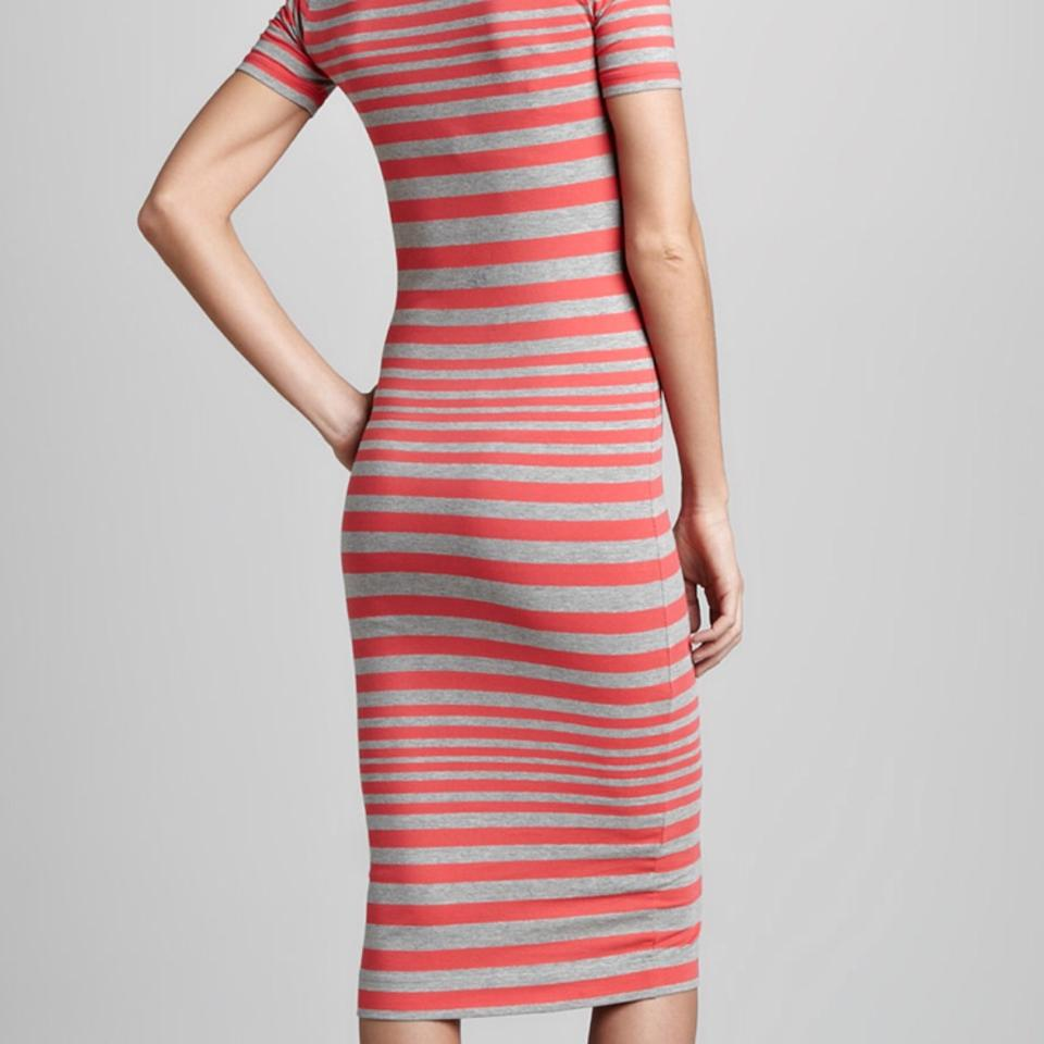 bda8f788d6 French Connection Navy and White Marissa Striped Bodycon Mid-length ...