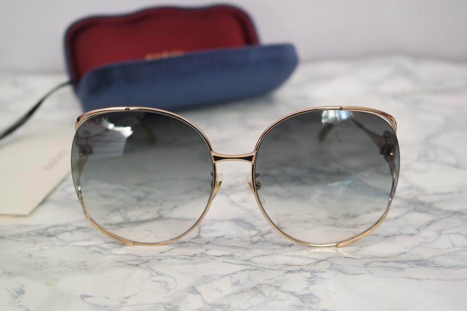 3138c54a40 Gucci Oversized Round Metal Sunglasses
