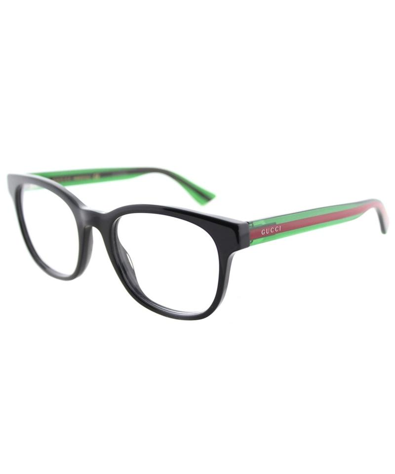 0af9bc97c0f Gucci Black New Gg0004o Square Green Red Leg Striped Frames Sunglasses