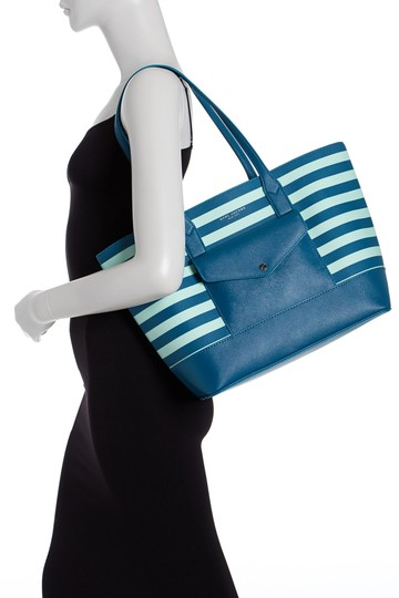 Marc Jacobs Saffiano Leather And # M0011754 Tote in Black/White Stripe Image 3
