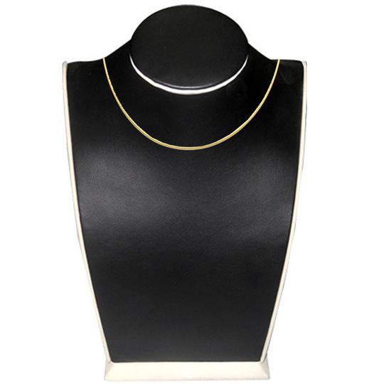 Top Gold & Diamond Jewelry 14K Yellow Gold 1.5 mm Sparkle Omega Necklace - 17