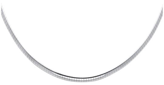 Top Gold & Diamond Jewelry 14K White Gold 3mm Reversible Omega Necklace - 18