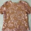 Blumarine Lacesequins Silk Sparkle Tops Top Champagne Gold Image 2