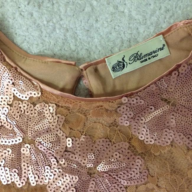 Blumarine Lacesequins Silk Sparkle Tops Top Champagne Gold Image 3