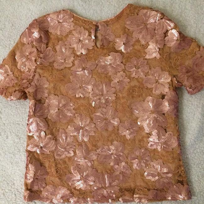 Blumarine Lacesequins Silk Sparkle Tops Top Champagne Gold Image 5