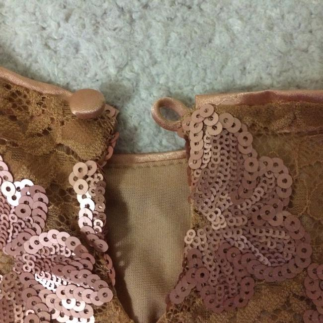 Blumarine Lacesequins Silk Sparkle Tops Top Champagne Gold Image 7