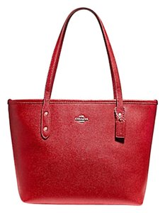 Coach Zip Top City City Tote in RED