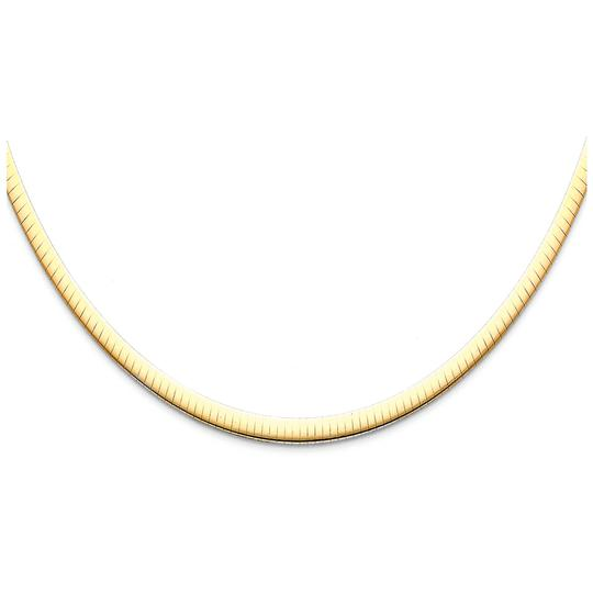 Top Gold & Diamond Jewelry 14K White Gold 4mm Reversible Omega Necklace - 16