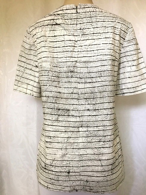 Tory Burch Short Sleeve Cotton Striped Top white Image 5