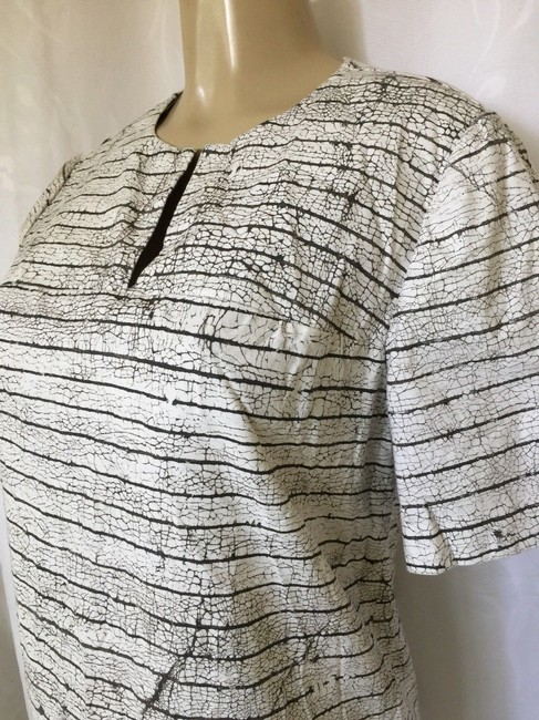Tory Burch Short Sleeve Cotton Striped Top white Image 7