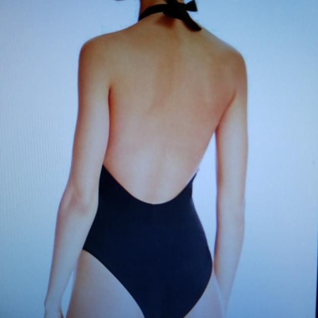 Red Carter NWT Black Splice Plunge Lace Up One Piece Swimsuit S Image 2