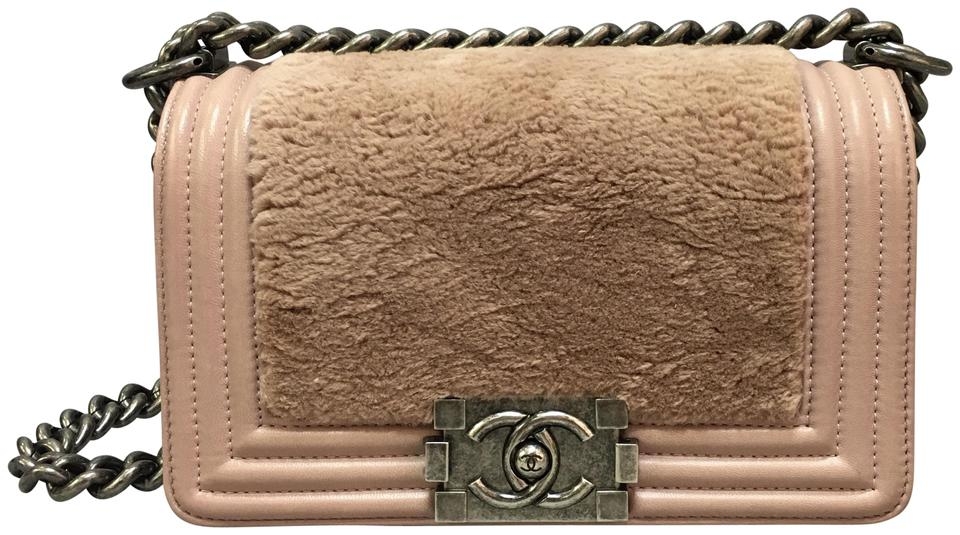 2ac21dd0bd5b Chanel Boy Small Le with Rabbit Palevioletred Pink Calfskin Leather ...