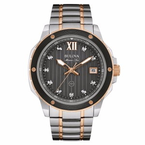 Bulova Bulova Men's 98D127 Marine Star Diamond Markers Quartz Two Tone Watch