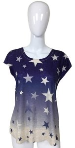 Other Stars Blue White Short Sleeve T Shirt