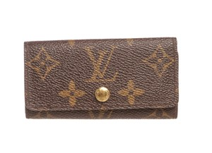 Louis Vuitton Louis Vuitton Monogram Canvas Leather 4 Key Holder