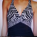 Profile by Gottex Tummy Control Underwire Halter Swimdress M(8) Image 3