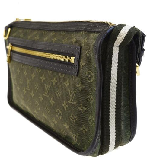 Louis Vuitton Made In France Green Clutch Image 1