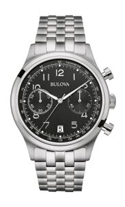 Bulova Bulova Men's 96B234 Quartz Chronograph Black Dial Bracelet 43mm Watch