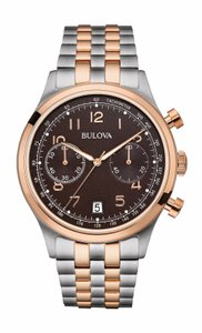 Bulova Bulova Men's 98B248 Chronograph Rose Gold and Silver Watch
