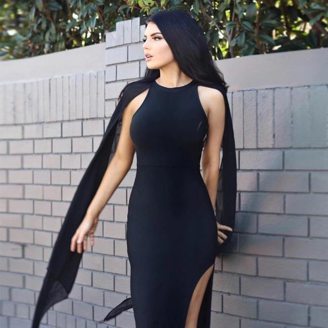 Black/ Size 4-6 Maxi Dress by Other Image 5