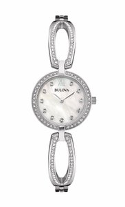 Bulova Bulova Women's 96L223 Quartz Crystal Accents Silve 26mm Watch
