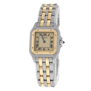 Cartier Authentic Ladies Cartier Panthere 1057917 18K Gold Steel Two Row 22MM
