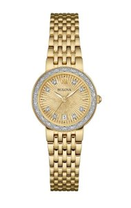 Bulova Bulova Women's 98R212 Quartz Diamond Accents Gold 26mm Watch
