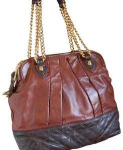Marc Jacobs Quilted Leather Gold Hardware Cognac Calfskin Satchel in Browns