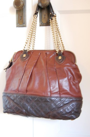Marc Jacobs Quilted Leather Gold Hardware Cognac Calfskin Satchel in Browns Image 1