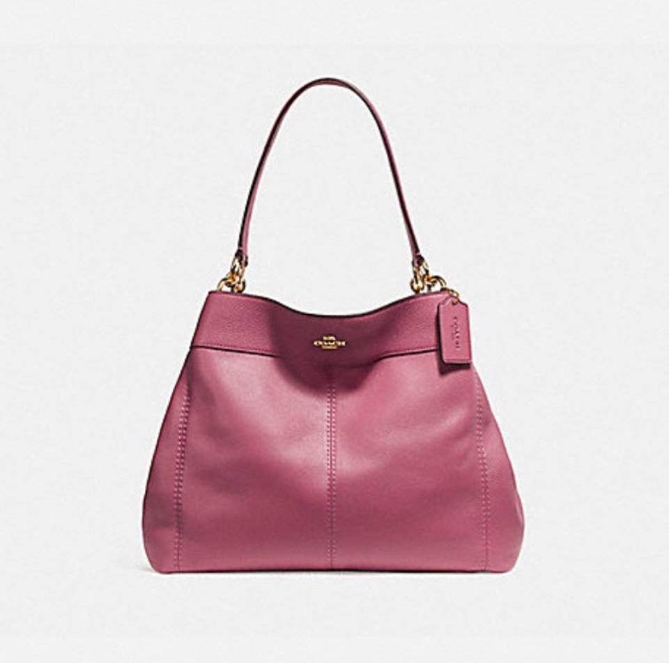f705a49bf11f Coach Lexy Pebble 57545 57505 Rouge Pink Leather Shoulder Bag - Tradesy