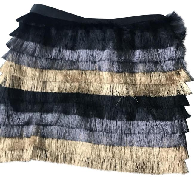 Item - Black Gold and Silver Christal Skirt Size 8 (M, 29, 30)