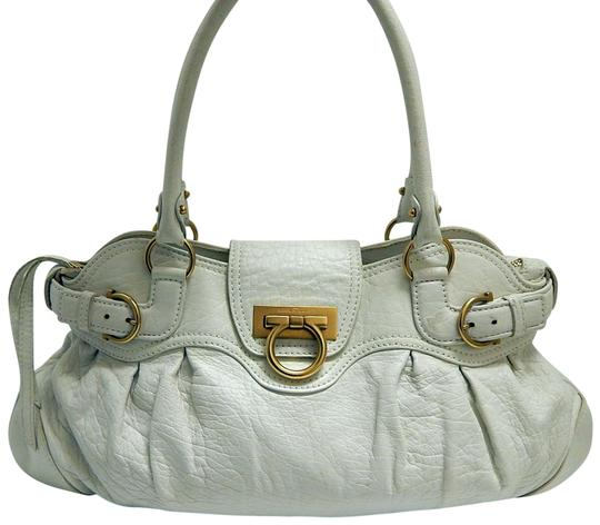 Preload https://img-static.tradesy.com/item/23179854/salvatore-ferragamo-gancini-italy-vanilla-lambskin-leather-satchel-0-1-540-540.jpg