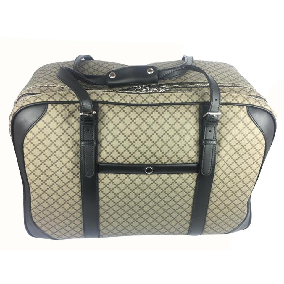 044be2bc5d1a Gucci Diamante Carry-on Luggage 267905 Beige Canvas Weekend/Travel Bag